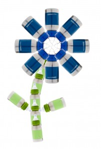 Dark Blue Flower 203x300 Wide Mouth Bottles